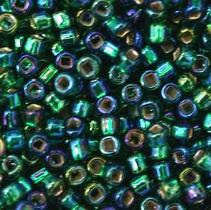 11/o Japanese Seed Bead 0647 Silverlined Rainbow - Beads Gone Wild