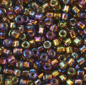 11/o Japanese Seed Bead 0648 Silverlined Rainbow - Beads Gone Wild