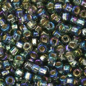 11/o Japanese Seed Bead 0649 Silverlined Rainbow - Beads Gone Wild