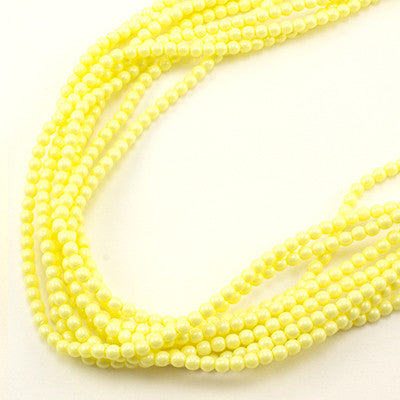 3mm Czech Pearl Pastel Yellow 150 pcs - Beads Gone Wild