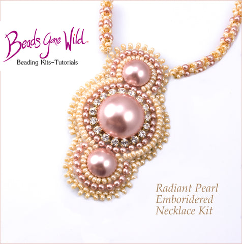 Radiant Pearl Bead Embroidered Necklace Kit