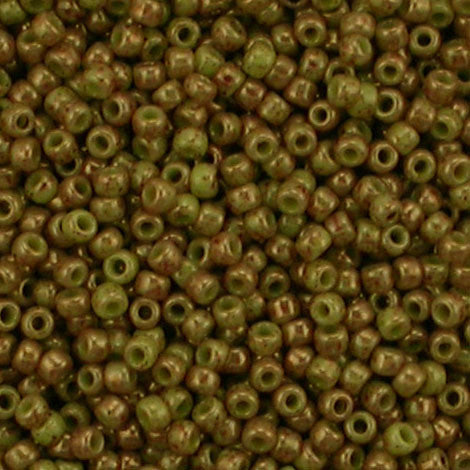 11/o Japanese Seed Bead 1209 npf Marbled Opaque - Beads Gone Wild
