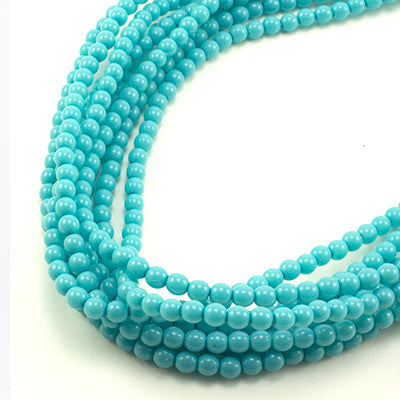 3mm Czech Pearl Turquoise 150 pcs - Beads Gone Wild