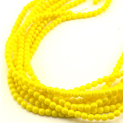 3mm Czech Pearl Yellow Squash 150 pcs - Beads Gone Wild