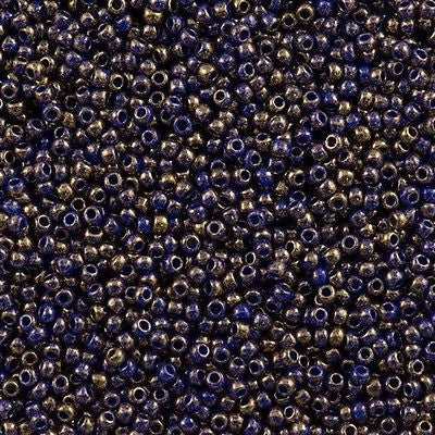 11/o Japanese Seed Bead 1701 npf Gold Marbled - Beads Gone Wild