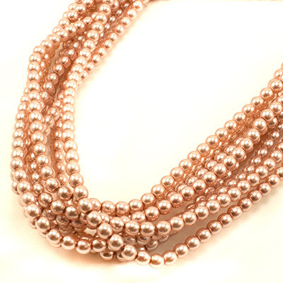 3mm Czech Pearl Antique Pink 150 pcs - Beads Gone Wild