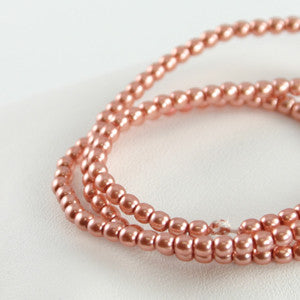 2mm Czech Pearl Antique Pink 150 pcs - Beads Gone Wild