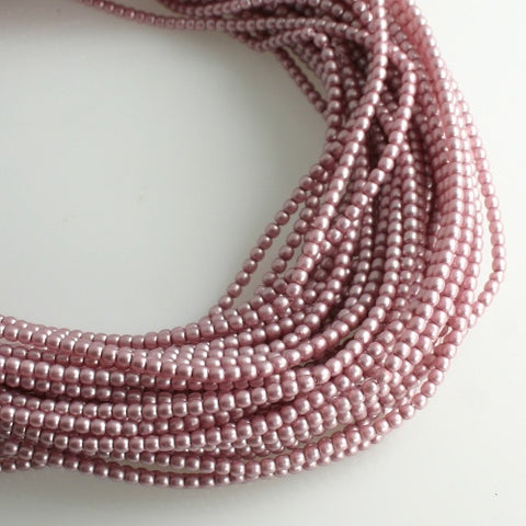 2mm Czech Pearl Antique Pink Satin 150 pcs - Beads Gone Wild