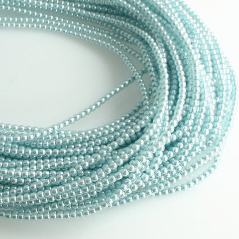 2mm Czech Pearl Baby Blue 150 pcs - Beads Gone Wild