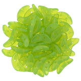 Milky Dark Peridot Crescent Bead - Beads Gone Wild  - 1