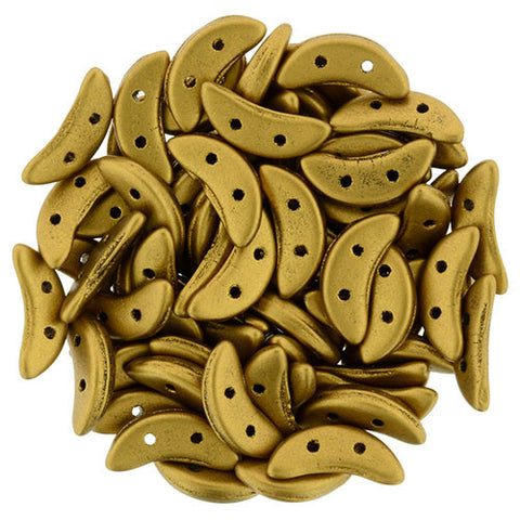 Mt Met Antique Gold Crescent Bead - Beads Gone Wild