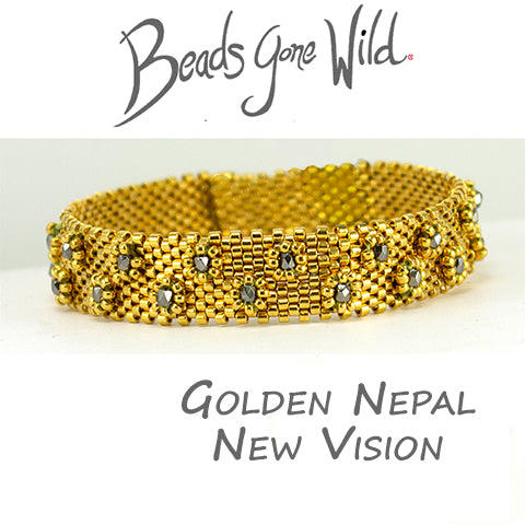 Golden Nepal New Vision Bracelet Bead Weaving Kit
