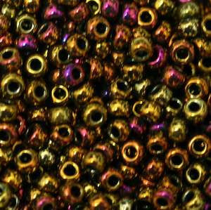6/O Japanese Seed Beads Metallic 462D - Beads Gone Wild