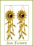 Sun Flower Beaded Earring Kit