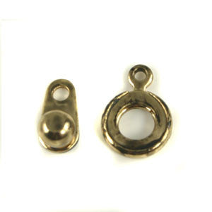 Base Metal Ball & Socket Clasp 8mm Ant. Gold Color 2/sets - Beads Gone Wild