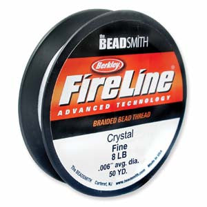 Crystal Fire Line Thread 8lb Medium 50yds. - Beads Gone Wild