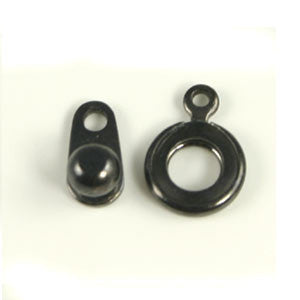 Base Metal Ball & Socket Clasp 8mm Gun Metal Color2/sets - Beads Gone Wild