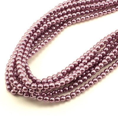 3mm Czech Pearl Orchid 150 pcs - Beads Gone Wild