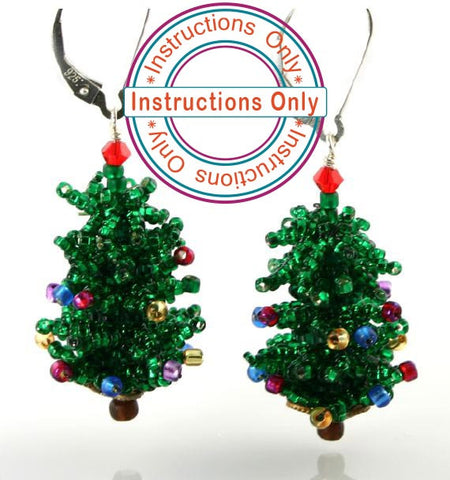 Christmas Tree Earrings Instructions - Beads Gone Wild
