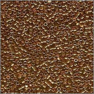 11/o Delica DB 0115 Gold Rose TL - Beads Gone Wild