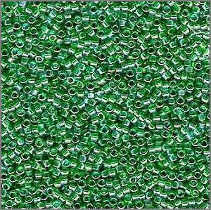 11/o Delica DB 0152 Kelly Green TR - Beads Gone Wild