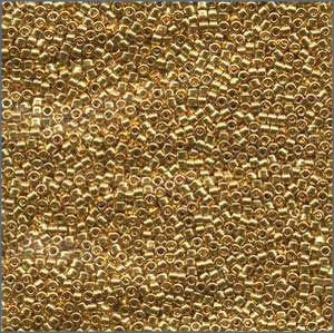 10/o Delica DBM 0031 Gold 24k Plated - Beads Gone Wild