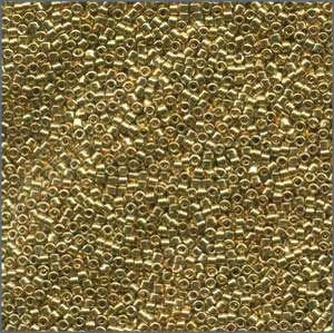 10/o Delica DBM 0034 Lined Gold 24k - Beads Gone Wild