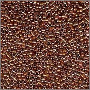 11/o Delica DB 0506 Dark Copper Bronze 22kt - Beads Gone Wild