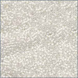 10/o Delica DBM 0066 Lined White AB - Beads Gone Wild