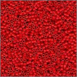 11/o Delica DB 0757 Light Red OP MA - Beads Gone Wild