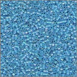 11/o Delica DB 1284 Tide Pool Blue TR MA - Beads Gone Wild
