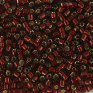 11/o Delica DB 1685 Dark Garnet Red TSL - Beads Gone Wild