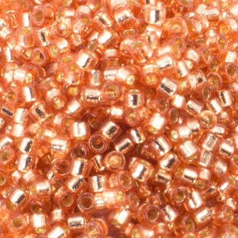 11/o Delica DB 2151 Rose Copper Silver Lined - Beads Gone Wild