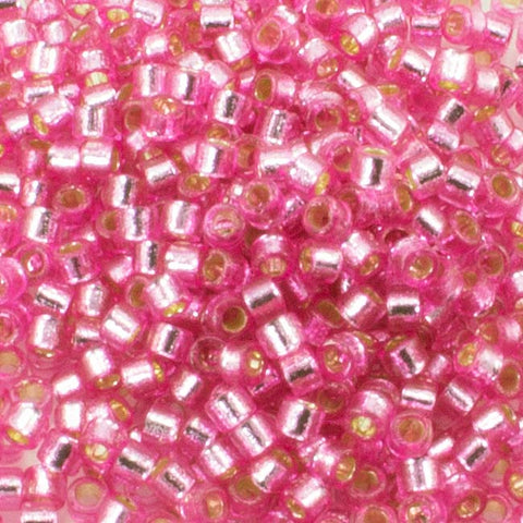11/o Delica DB 2153 Pink Parfait Silver Lined - Beads Gone Wild