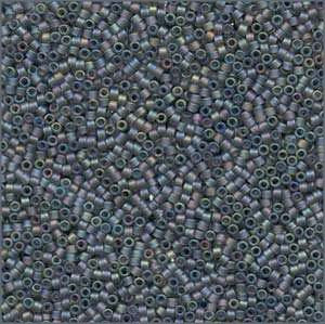 10/o Delica DBM 0863 Matte Grey AB - Beads Gone Wild