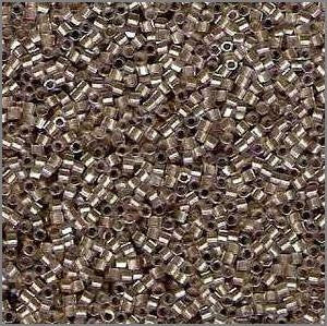 11/o Delica DBH 0907 Crystal / Taupe ICL Hex - Beads Gone Wild