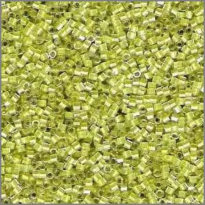 11/o Delica DBH 0910 Crystal / Light Yellow ICL Hex - Beads Gone Wild