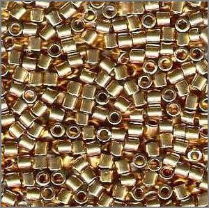 8/o Delica DBL 0034 18 Kt Hamilton Gold Plated M - Beads Gone Wild