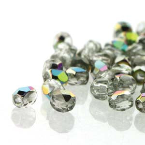 2mm Fire Polish Crystal Vitrail 150 beads - Beads Gone Wild
