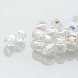 2mm Fire Polish Crystal AB 150 beads - Beads Gone Wild