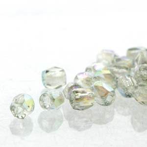 2mm Fire Polish Crystal Blue Rainbow 150 beads - Beads Gone Wild