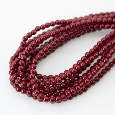 3mm Czech Pearl Cranberry 150 pcs - Beads Gone Wild