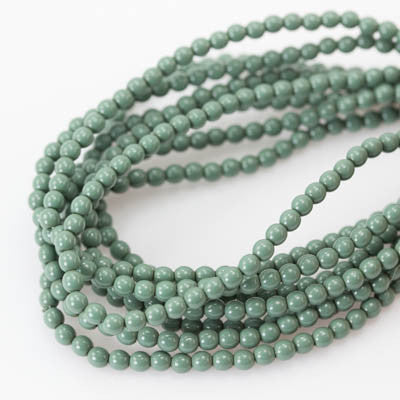 3mm Czech Pearl Hartford Green 150 pcs - Beads Gone Wild