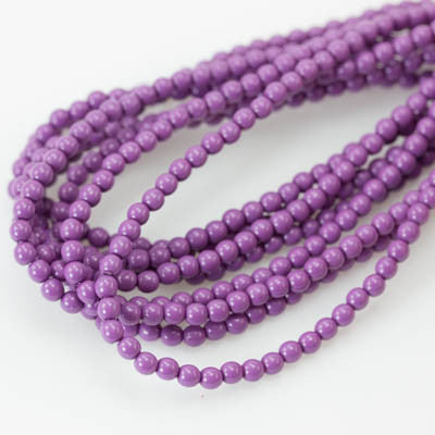 3mm Czech Pearl Hollyhock Purple 150 pcs - Beads Gone Wild