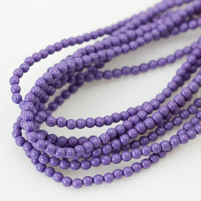 3mm Czech Pearl Light Plum 150 pcs - Beads Gone Wild