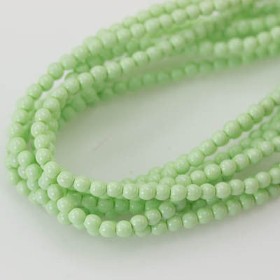 3mm Czech Pearl Lt. Spring Green 150 pcs - Beads Gone Wild