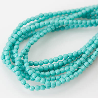 3mm Czech Pearl Turquoise Blue Green 150 pcs - Beads Gone Wild