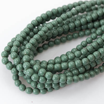 4mm Czech Pearl Hartford Green 120 pcs - Beads Gone Wild
