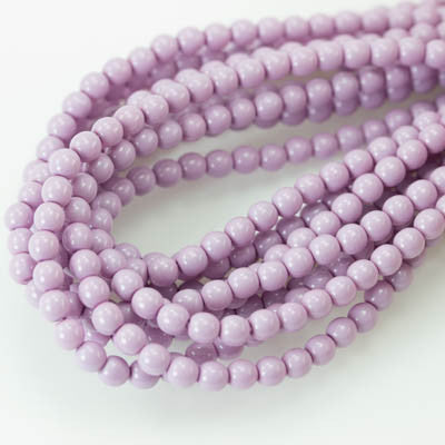 4mm Czech Pearl Lilac 120 pcs - Beads Gone Wild