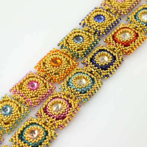 Flaming Jewels Bracelet Bead Weaving Kit - Beads Gone Wild  - 3